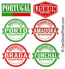 Portugal cities stamps