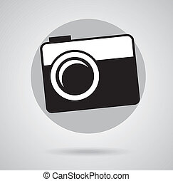 photography design over gray background vector illustration