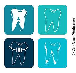 dental care over white background vector illustration