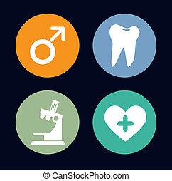 dental care over  background vector illustration