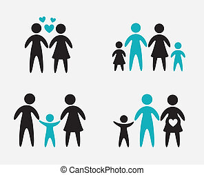 familiy design - family design over gray background vector...