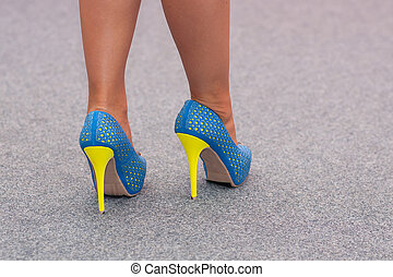Colorful shoes of woman