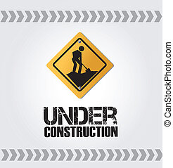 under construction design - under construction over gray...