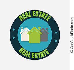 real estate over  background vector illustration