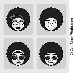 afro style design over background vector illustration