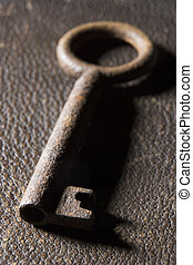 Close-Up Of Old-Fashioned Key