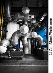 Industrial, esfriando, equipamento