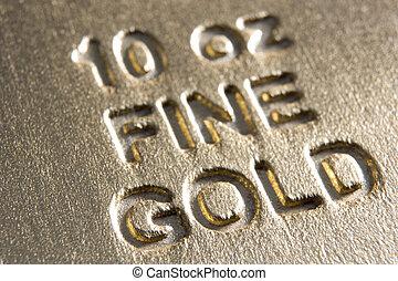 Close-Up Of Gold Bar