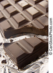 Close Up Of Dark Chocolate