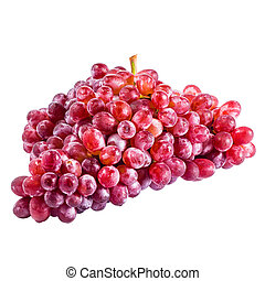 red grape isolated on white with clipping path
