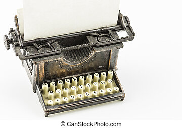 Bronze Typewriter Minature - Bronze minature model of an old...