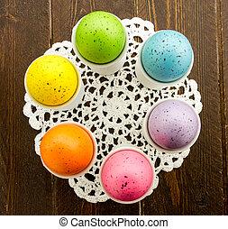 huevos, Pascua, cestas