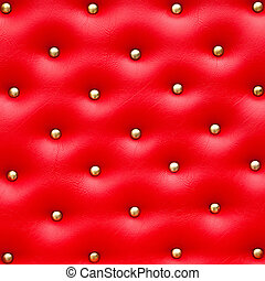 Red leather pattern with knobs,Texture for Background