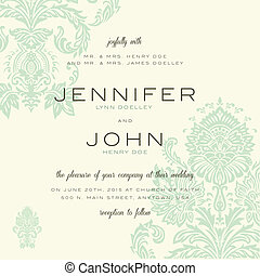 Vector Vintage Wedding Invitation Template