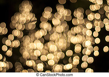 light via bokeh at night