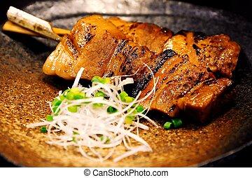 Skewered - traditional Japanese skewered food