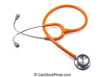 orange Stethoscope,isolated