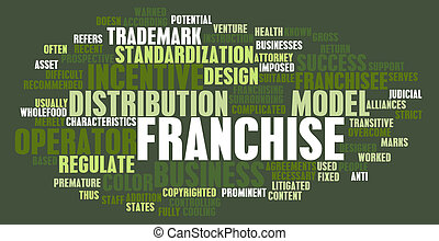 Franchise Concept - Franchise Business Concept as a Abstract...