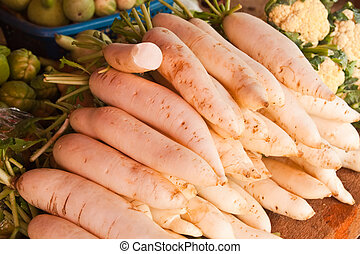 Radishes - Pile of radishes