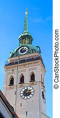 Munich, Tower of Saint Peter Church, Bavaria, Germany