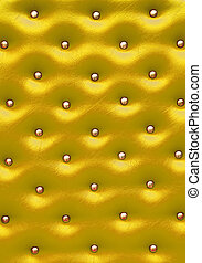 Golden leather pattern with knobs,Texture for Background