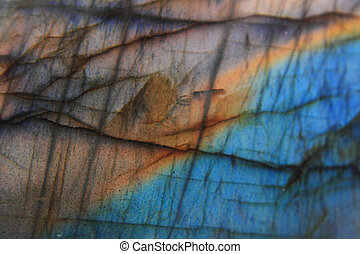 labradorite natural mineral background - blue and yellow...