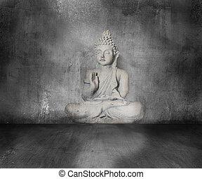 Buddha, Grunge, Plano de fondo