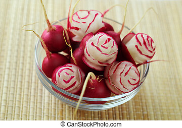 Rose made from a radish