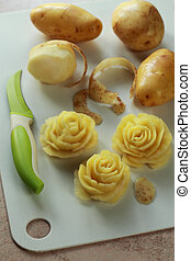 Roses made from a potato