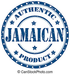Jamaican-stamp - Grunge rubber stamp with text Jamaican...