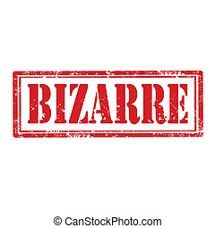 Bizarre-stamp - Grunge rubber stamp with word Bizarre,vector...
