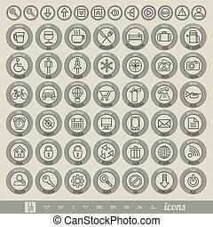 Retro Vintage style Icon collection - Universal icons...