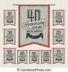 Vintage anniversary collection - Retro Vintage style...