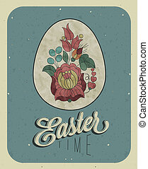 Vintage style Easter greeting card