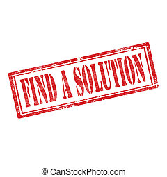 Find A Solution-stamp - Grunge rubber stamp with text Find A...