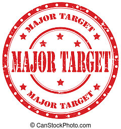 Major Target-stamp - Grunge rubber stamp with text Major...