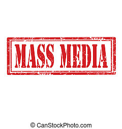 Mass Media-stamp - Grunge rubber stamp with text Mass...