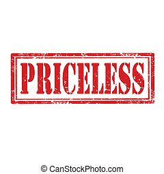 Priceless-stamp - Grunge rubber stamp with word...