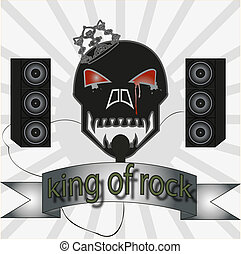 king of rock - The vector image of vintage king of rock