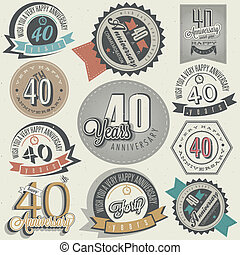 Vintage 40 anniversary collection - Vintage style 40...
