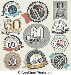 Vintage 60 anniversary collection - Vintage style 60th...
