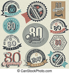 Vintage 80 anniversary collection - Eighty anniversary...