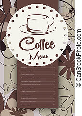 Menu for coffeehouse