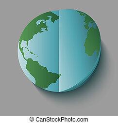 Paper earth globe