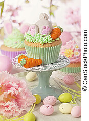 Easter cupcake on a stand