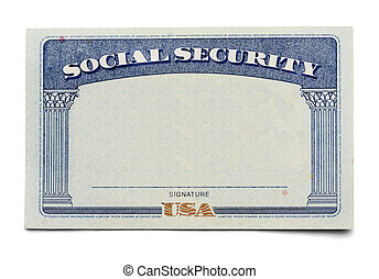 Social Security Card - Blank Social Security Card Isolated...