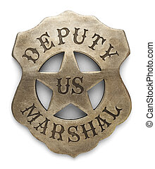 Deputy Marshal Badge - US Sheriff Debuty Marshals Badge...