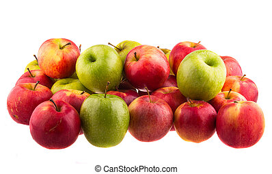 Red apples isolated isolated on white background.