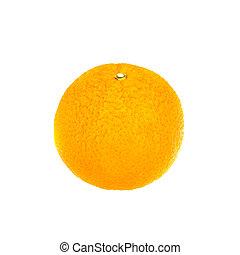 Orange, isolated on white.