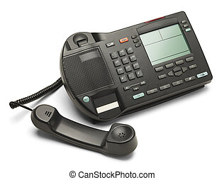 Work Phone - Black Office Business Phone Off The Hook...